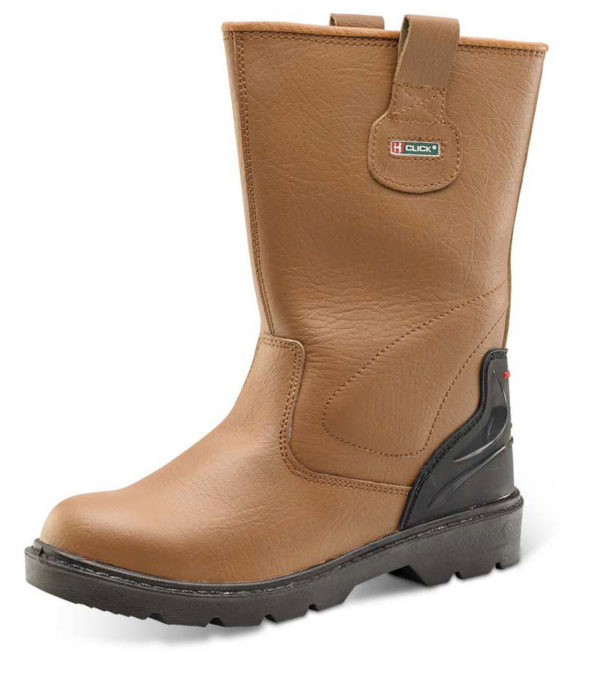 personal protective equipment brown rigger boots