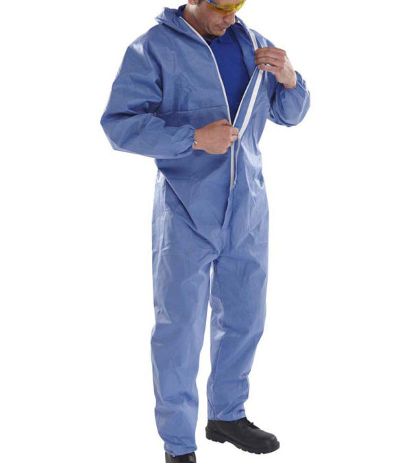safety workwear blue disposable overalls