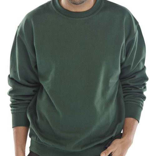safety workwear green sweatshirt