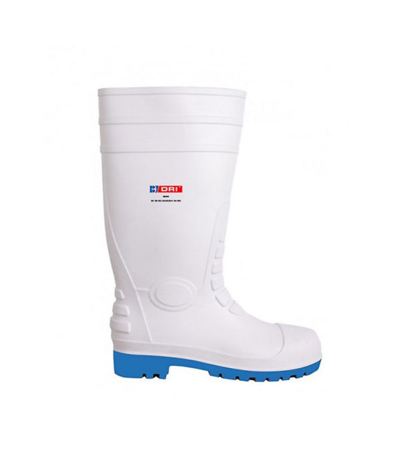 Food processing white wellington safety boot